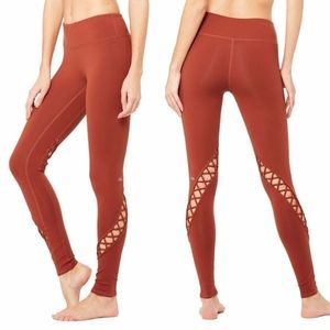Alo Yoga Entwine Leggings Amber Burnt Orange L